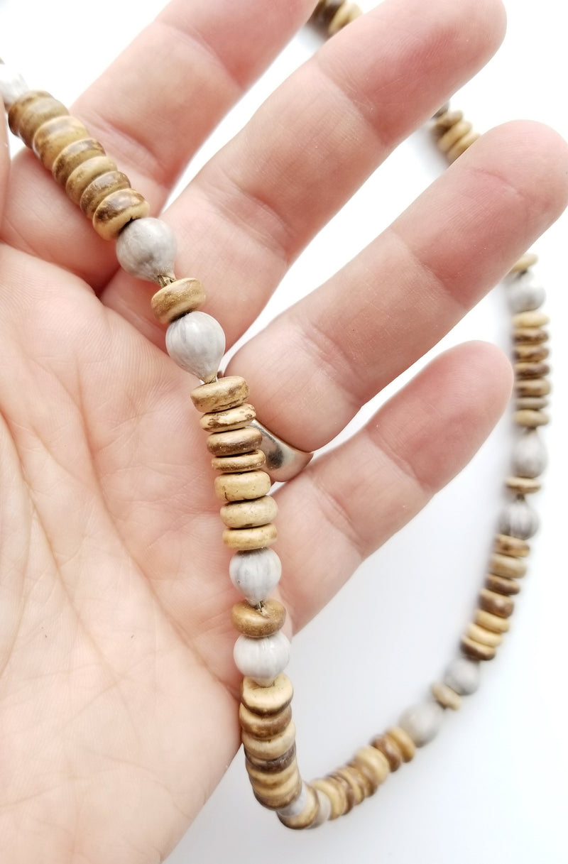 Men's Beaded Necklace - Nordic Job's Tears
