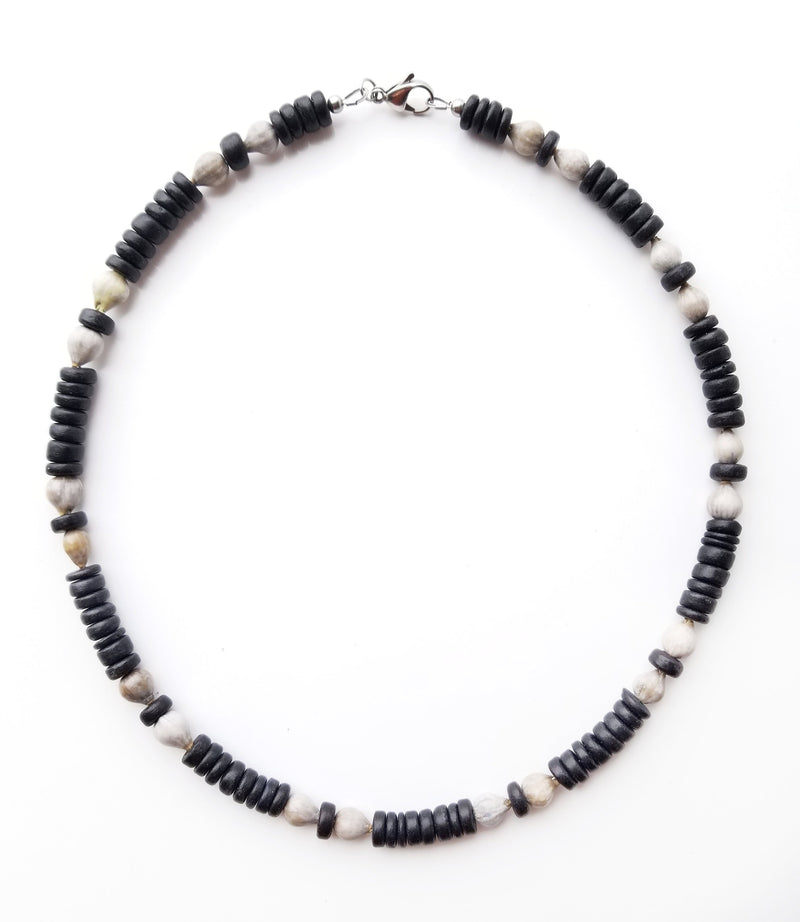Men's Beaded Necklace - Midnight Jobs Tears