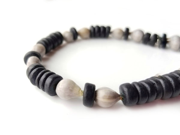 Men's Beaded Bracelet - Midnight Job's Tears