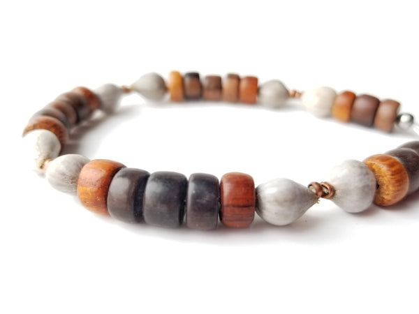 Men's Beaded Bracelet - Copper Job's Tears