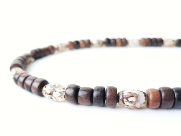 Men's Beaded Necklace - Tibetan Agate