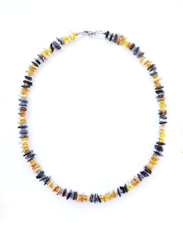 Men's Beaded Necklace - Sun Moon