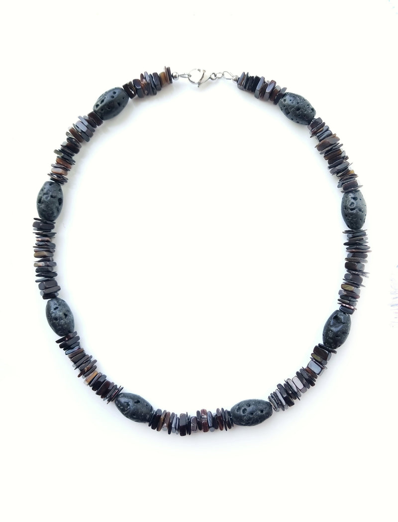 Men's Beaded Necklace  - Mauna Loa