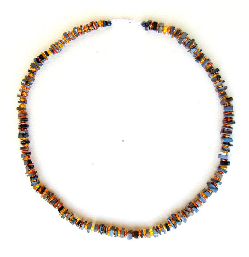 Men's Beaded Necklace - Forest Fire