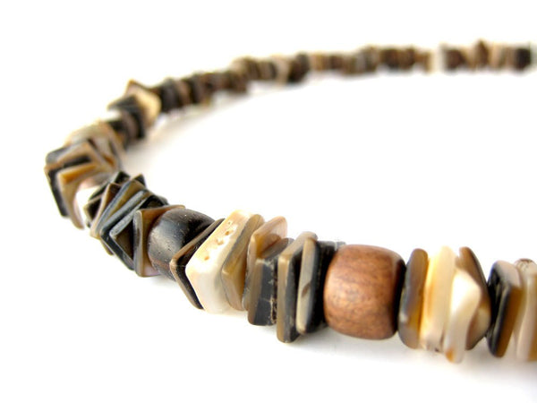 Men's Beaded Necklace - Chocolate Surf