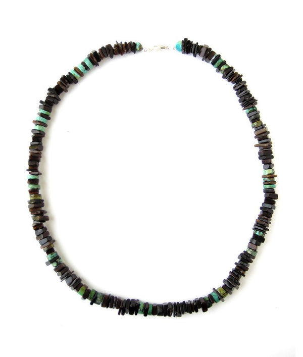 Men's Beaded Necklace - Sky Sliver