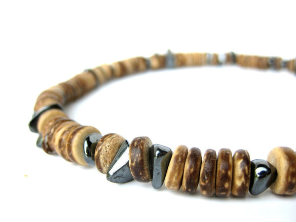 Men's Beaded Necklace - Quicksilver