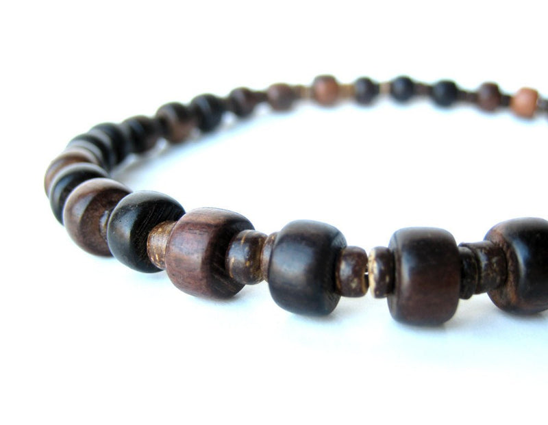 Men's Beaded Necklace - Wooden Stutter