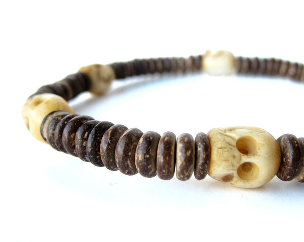 Men's Beaded Necklace - Tribal Headhunter