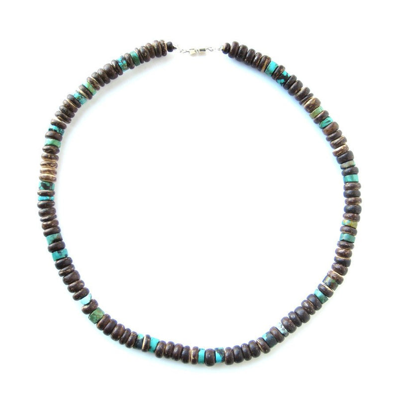 Men's Beaded Necklace - Tribal Turquoise.