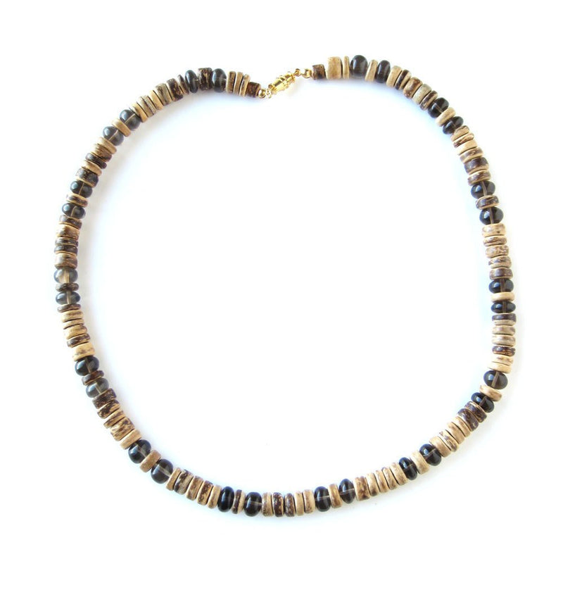 Men's Beaded Necklace - Gunsmoke