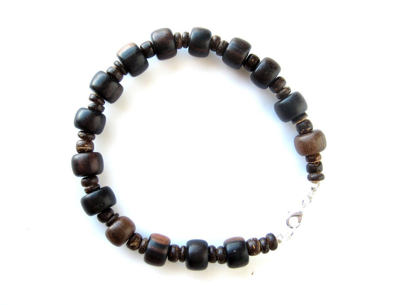 Men's Beaded Bracelet - Wooden Stutter