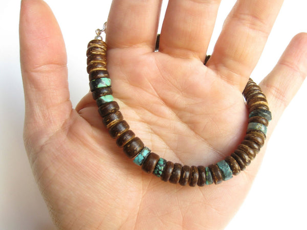 Men's Beaded Bracelet - Tribal Turquoise