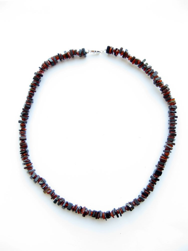 Men's Beaded Necklace - Forest Ember