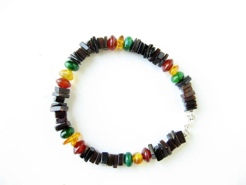 Men's Beaded Bracelet - Rasta