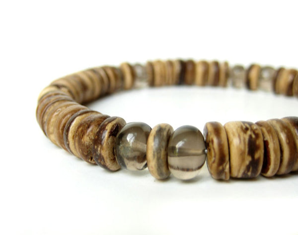 Men's Beaded Bracelet - Gunsmoke.