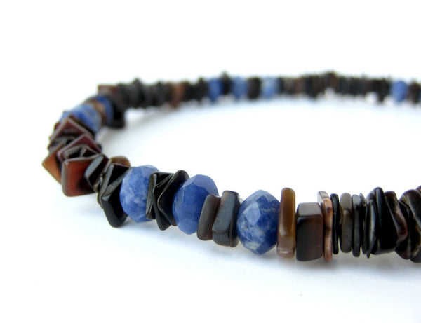 Men's Beaded Necklace - Ol' Blue Eyes