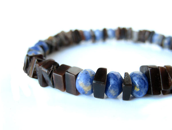 Men's Beaded Bracelet - Ol' Blue Eyes