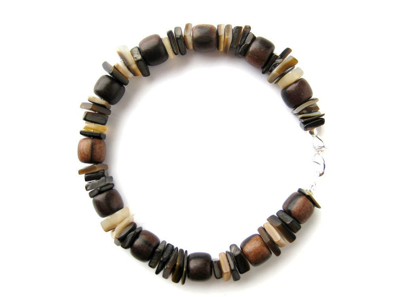 Men's Beaded Bracelet - Chocolate Surfer