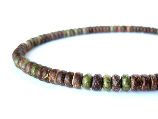 Men's Beaded Necklace - Camo