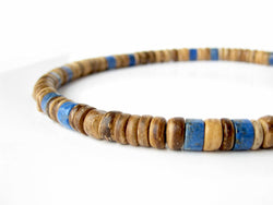 Men's Beaded Necklace - Tribal Lapis.