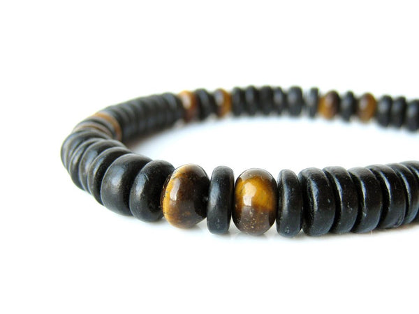 Men's Beaded Bracelet - Cat's Eye