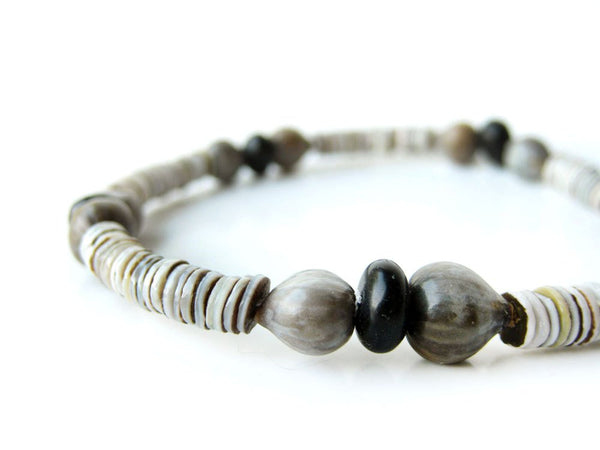Men's Beaded Bracelet - Black Sands