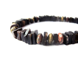 Men's Beaded Bracelet - Midnight Leopard