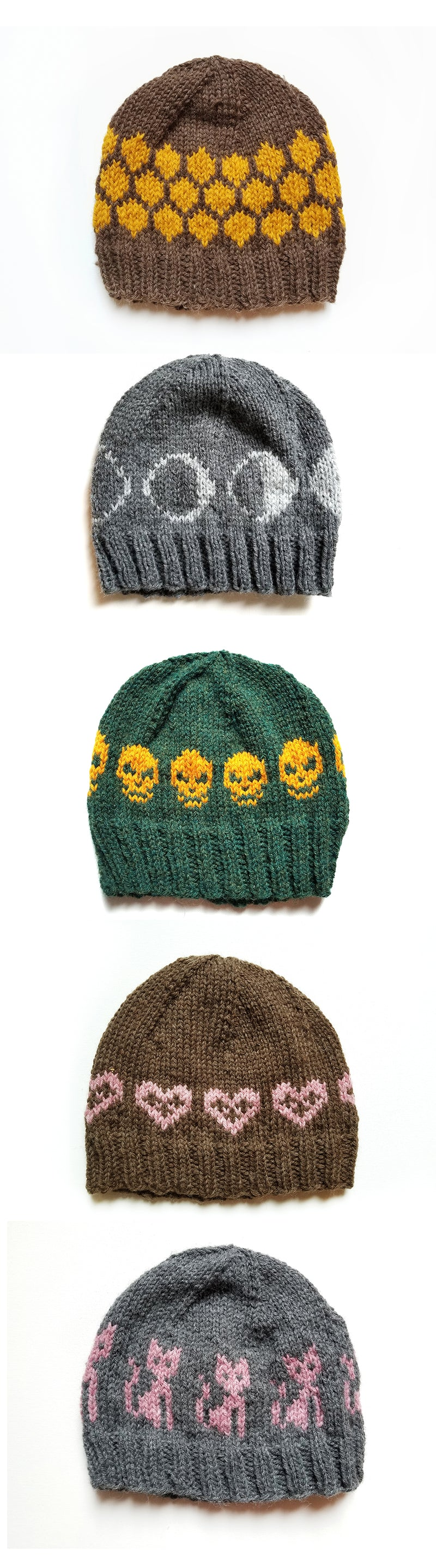 Hand Knit Hat - Kitties