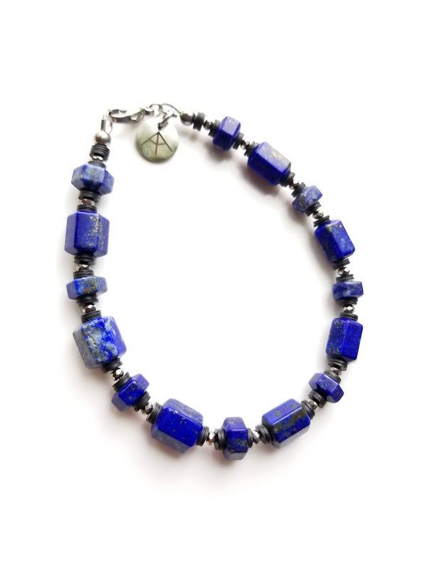 Summit Collection - Men's Luxury Bracelet - Lapis Lazuli