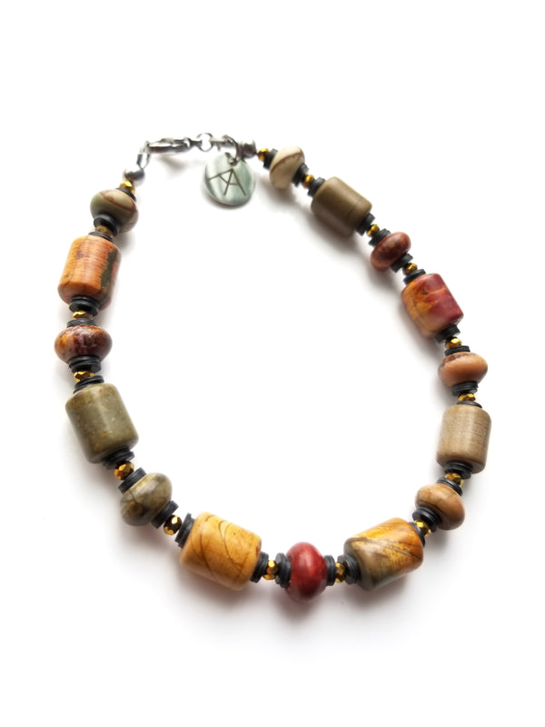 Summit Collection - Men's Luxury Bracelet - Red Creek Jasper