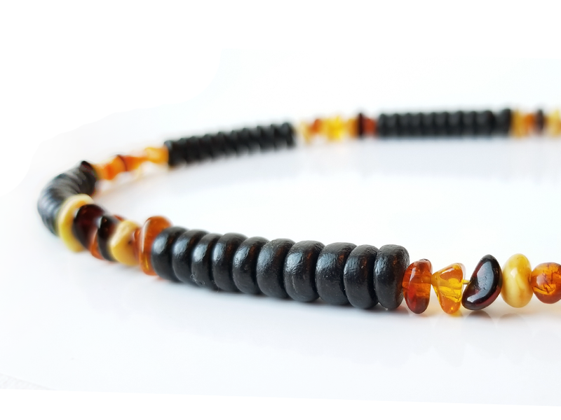 Men's Beaded Necklace - Wild Honey