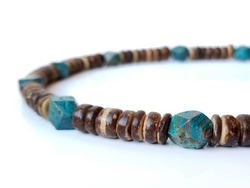 Men's Beaded Necklace - Earth and Sky