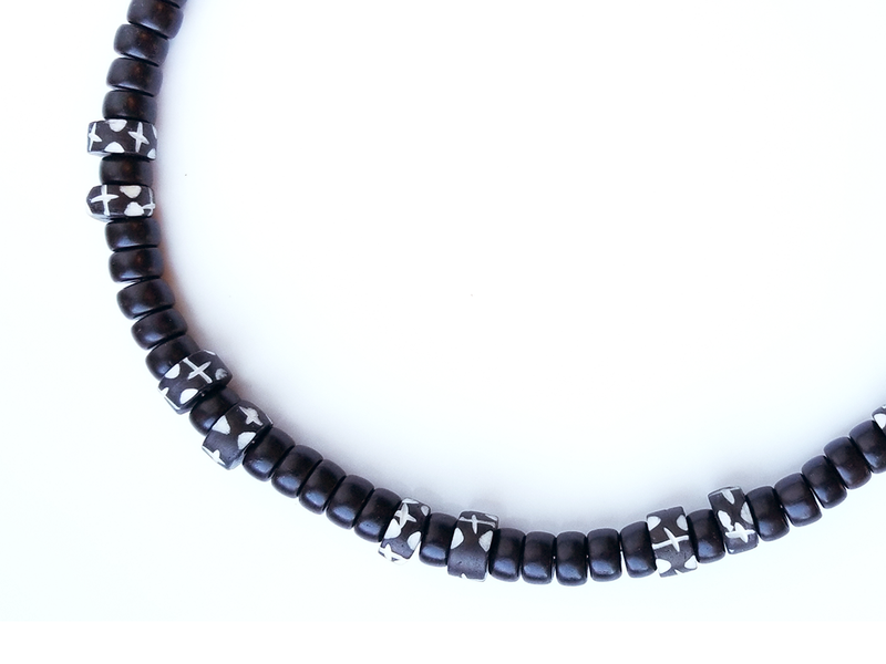 Men's Beaded Necklace - Starry Night