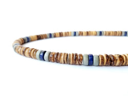 Men's Beaded Necklace - Sand Dunes