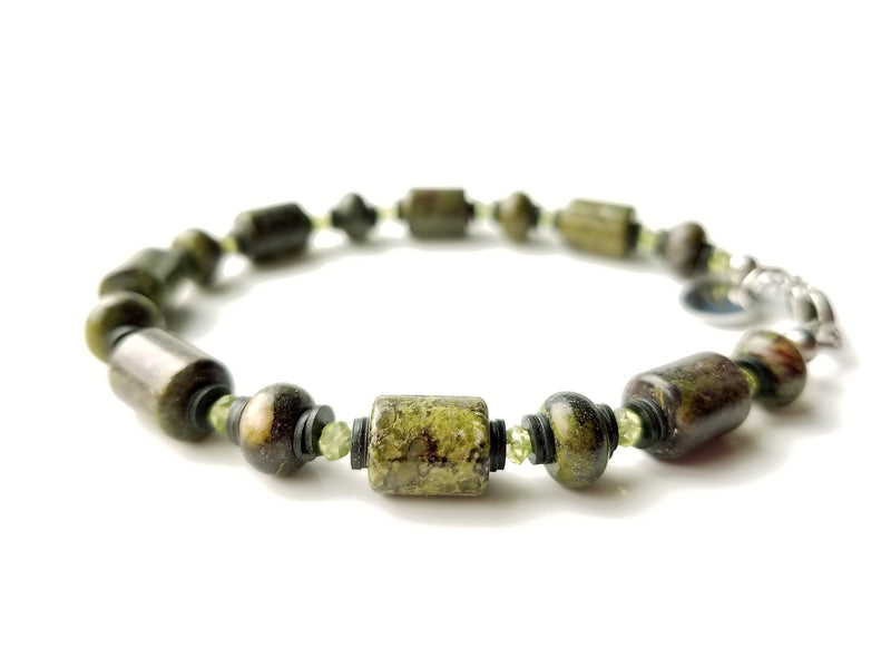 Summit Collection - Men's Luxury Bracelet - Dragon's Blood Jasper