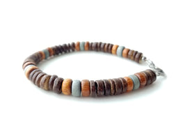 Men's Beaded Bracelet - Mid-century Modern