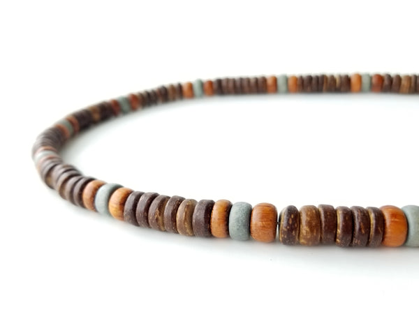 Men's Beaded Necklace - Mid-century Modern