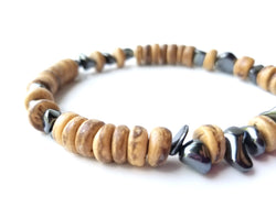 Men's Beaded Bracelet - Quicksilver