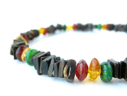 Men's Beaded Necklace - Rasta