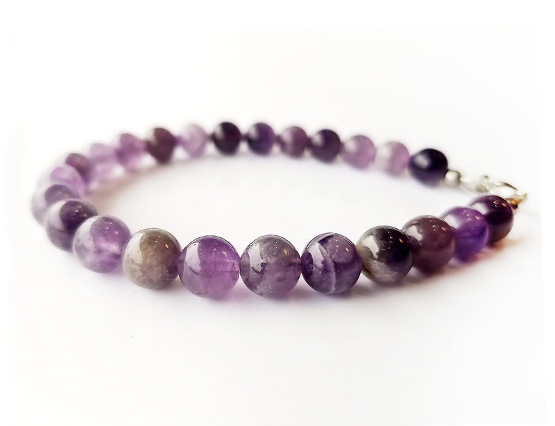 Men's Beaded Bracelet - Amethyst Beads