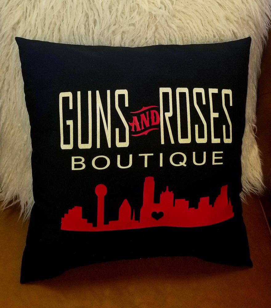 MillieBee Design Custom Pillow - Guns and Roses Boutique
