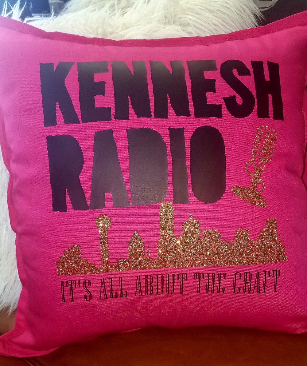 MillieBee Design Custom Pillow - Kennesh Radio