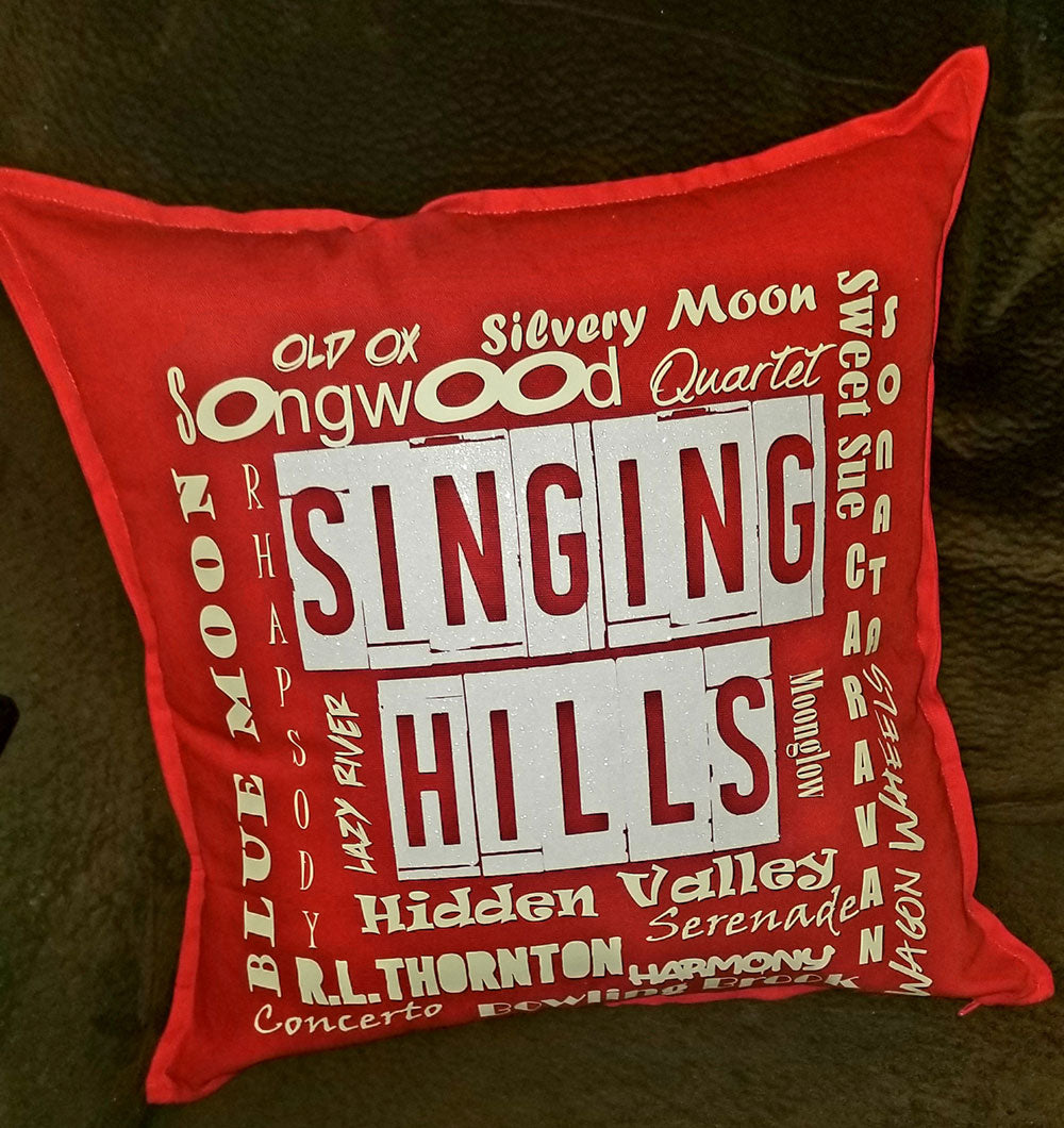 MillieBee Design Custom Pillow - Singing Hills Red