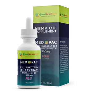 300mg Med Pac Hemp Oil - MCT Coconut Oil Berry Flavor