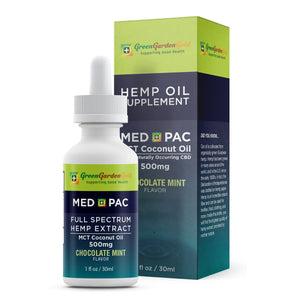 20% OFF 500mg Med Pac Hemp Oil - MCT Coconut Oil Chocolate Mint Flavor