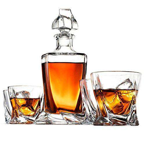 European Style Whiskey Decanter and Glass Set