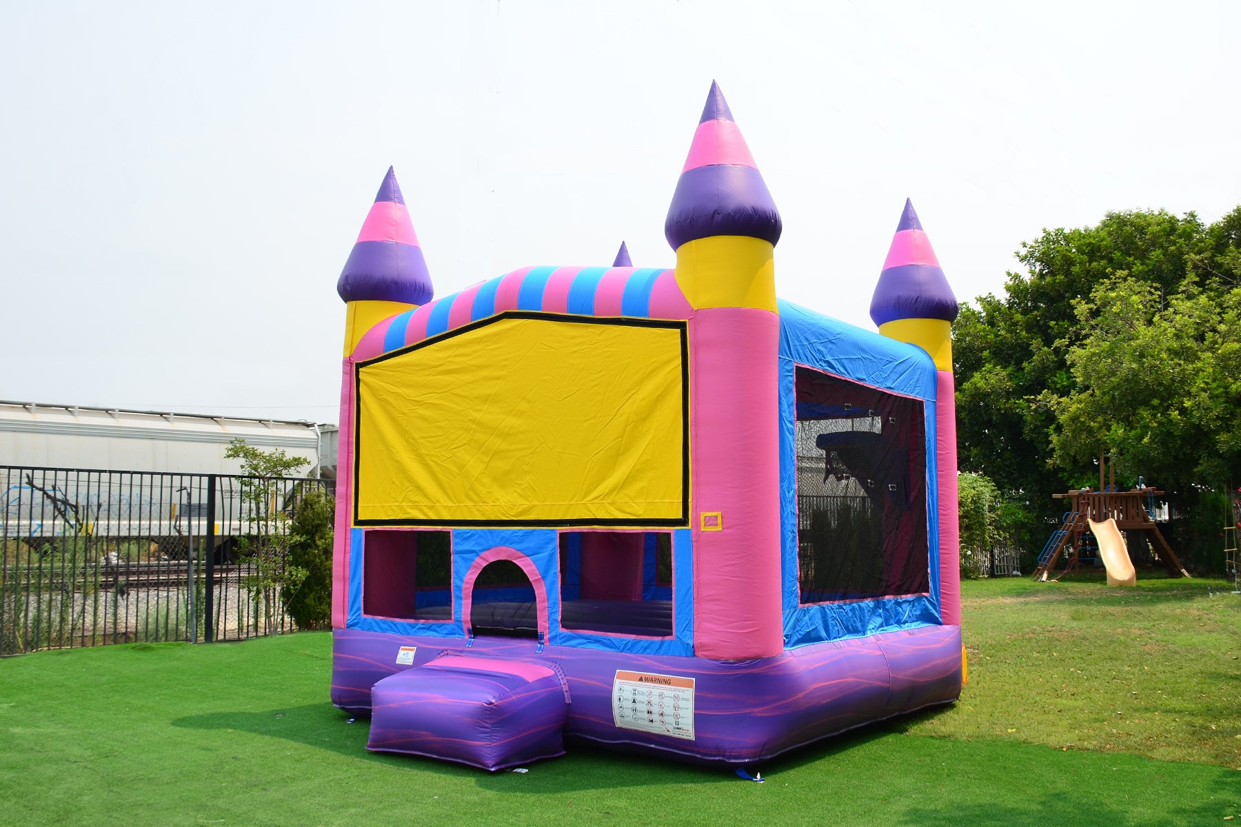 JumpOrange Commercial Grade Inflatable Cotton Candy Bounce House Backyard Party Moonwalk Size 13x13