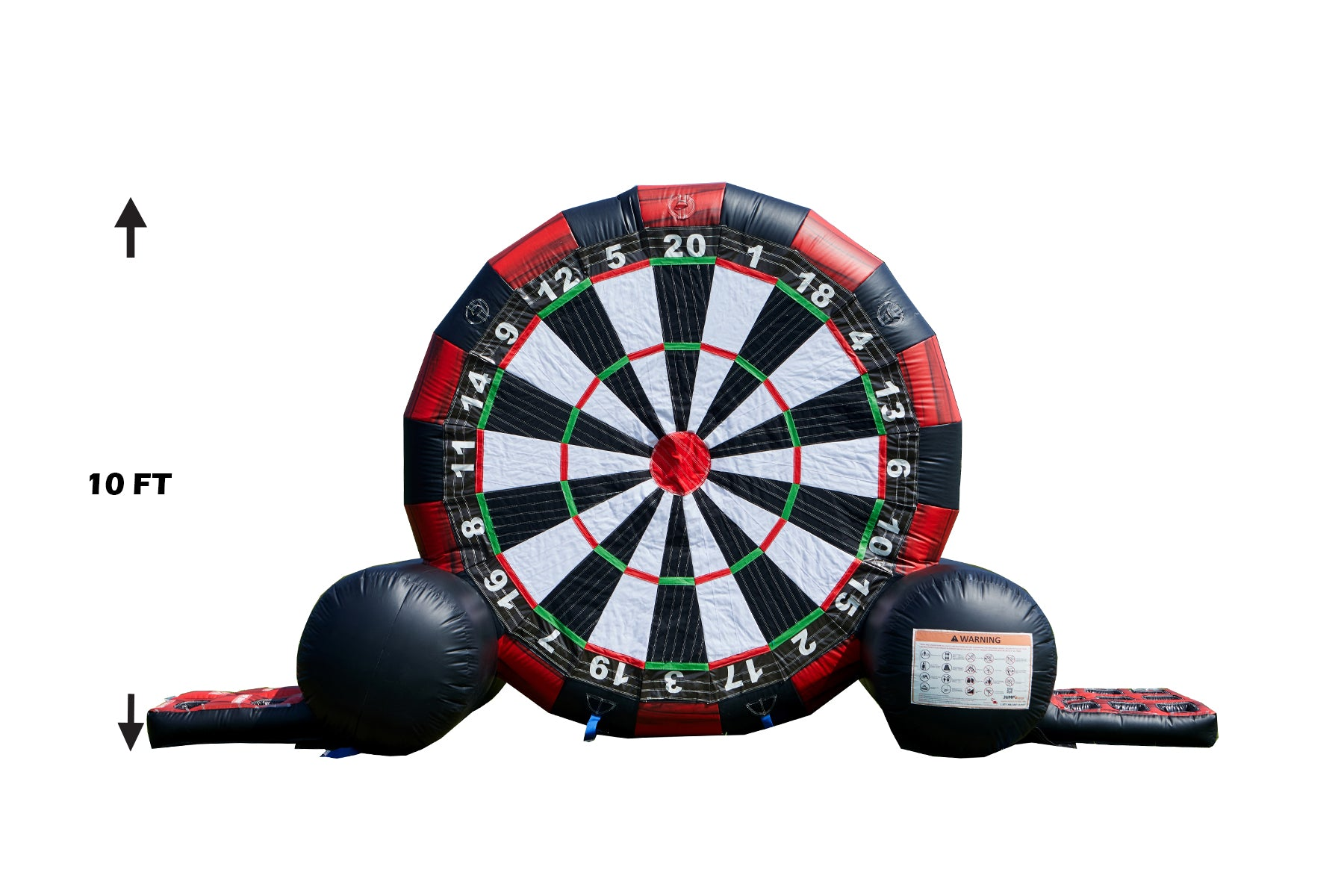 MULTI-USE 10 FT SOCCER DART/BANNER GAME/SIDE GAME + LED POCKET