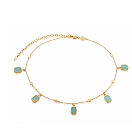 AMAZONITE GOLD LENA CHOKER
